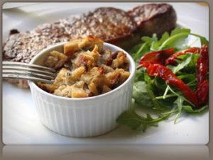gorgonzola bread pudding