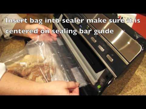 Foodsaver V3800 series - Sealing UMAi DrybagSteak (Homemade Pancetta)